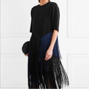 Stella McCartney Edith Fringe Top Black Blue